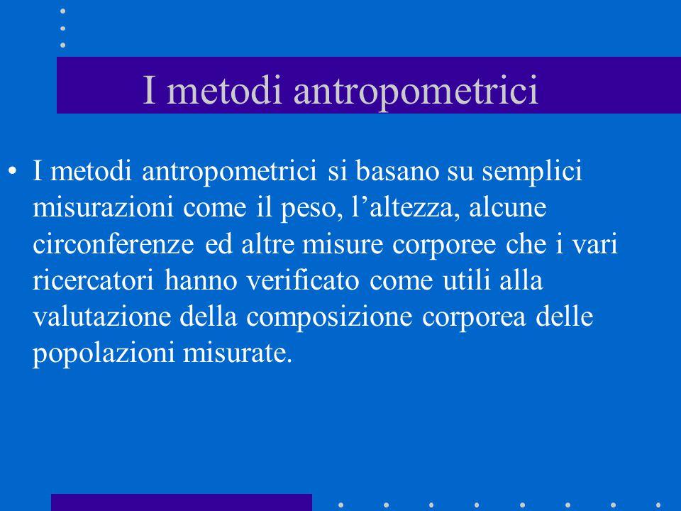I metodi antropometrici