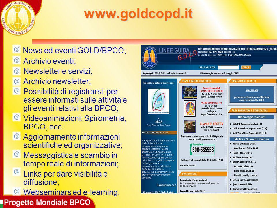 www.goldcopd.it News ed eventi GOLD/BPCO; Archivio eventi;