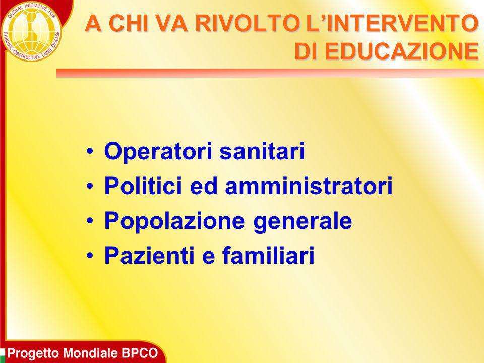 A CHI VA RIVOLTO L'INTERVENTO DI EDUCAZIONE