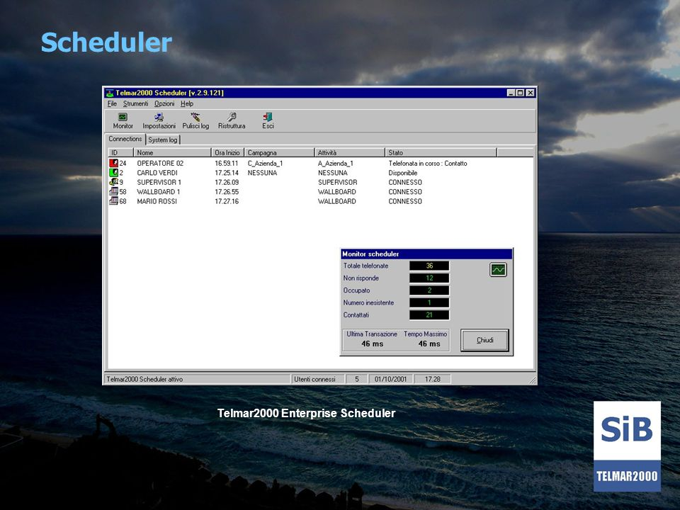 Scheduler Telmar2000 Enterprise Scheduler