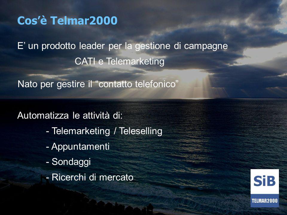 Cos'è Telmar2000 E' un prodotto leader per la gestione di campagne
