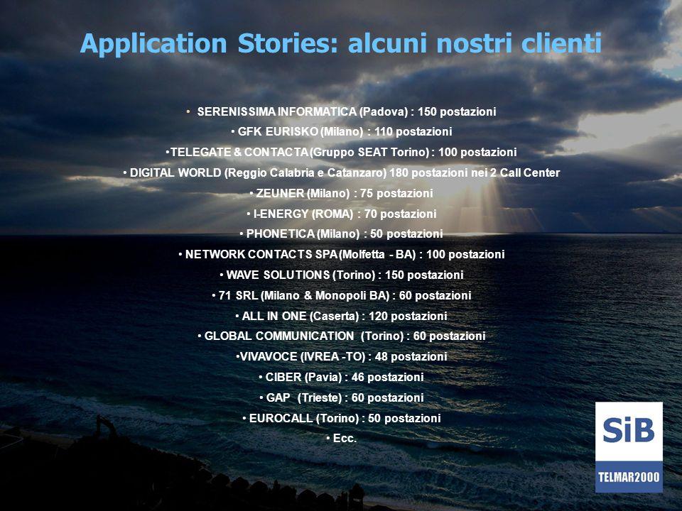 Application Stories: alcuni nostri clienti