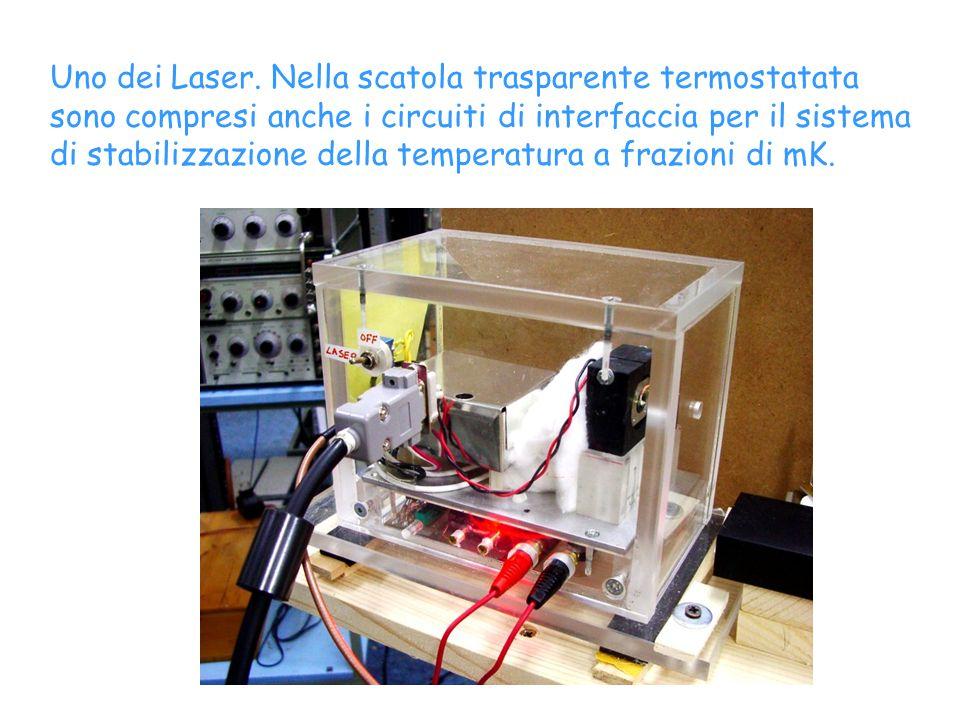 Uno dei Laser. Nella scatola trasparente termostatata