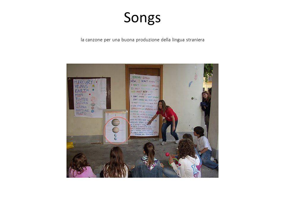 Songs la canzone per una buona produzione della lingua straniera