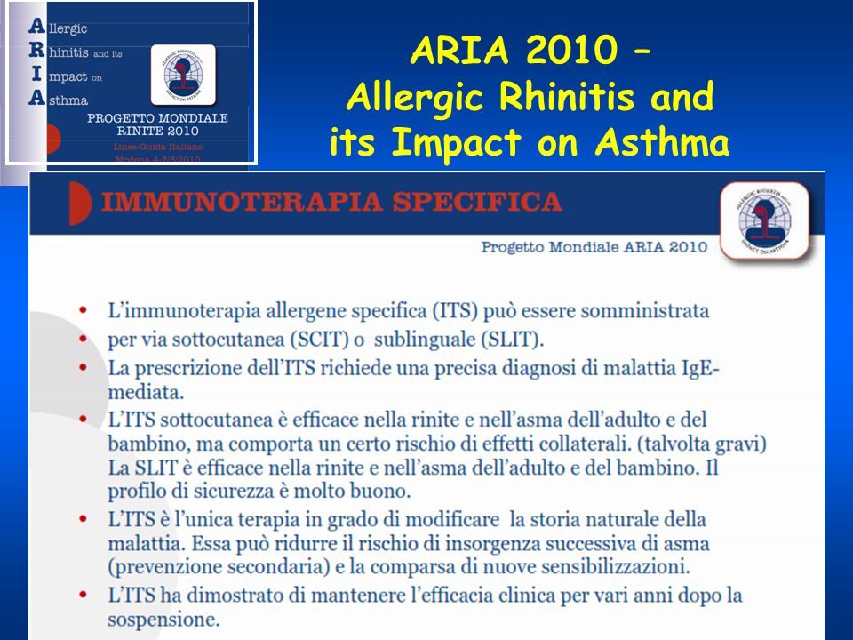 ARIA 2010 – Allergic Rhinitis and its Impact on Asthma