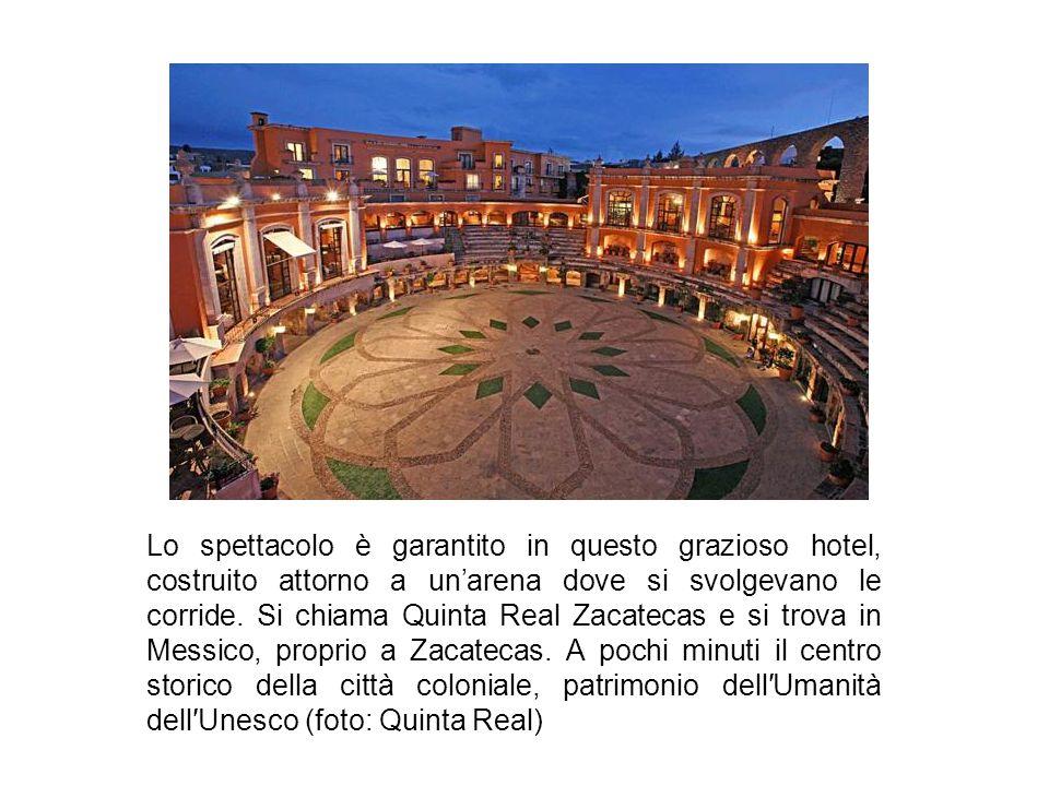 Lo spettacolo è garantito in questo grazioso hotel, costruito attorno a un'arena dove si svolgevano le corride.
