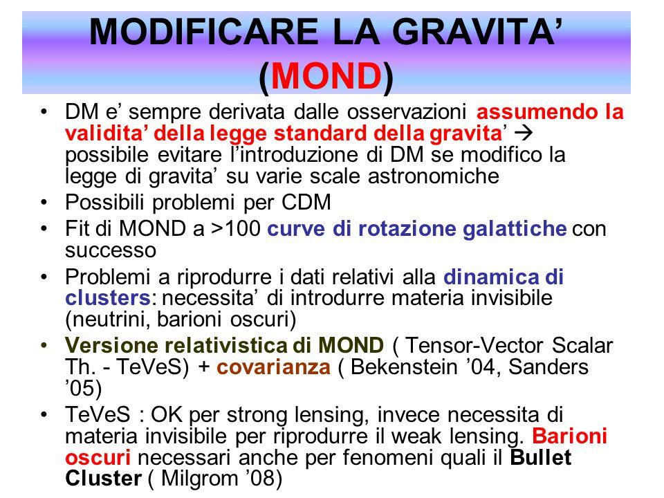 MODIFICARE LA GRAVITA' (MOND)