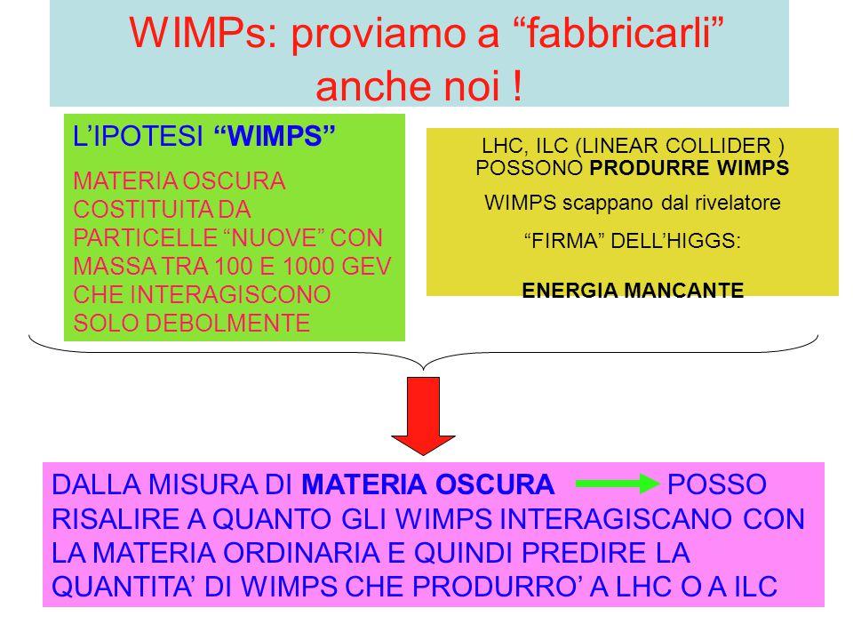 WIMPs: proviamo a fabbricarli anche noi !