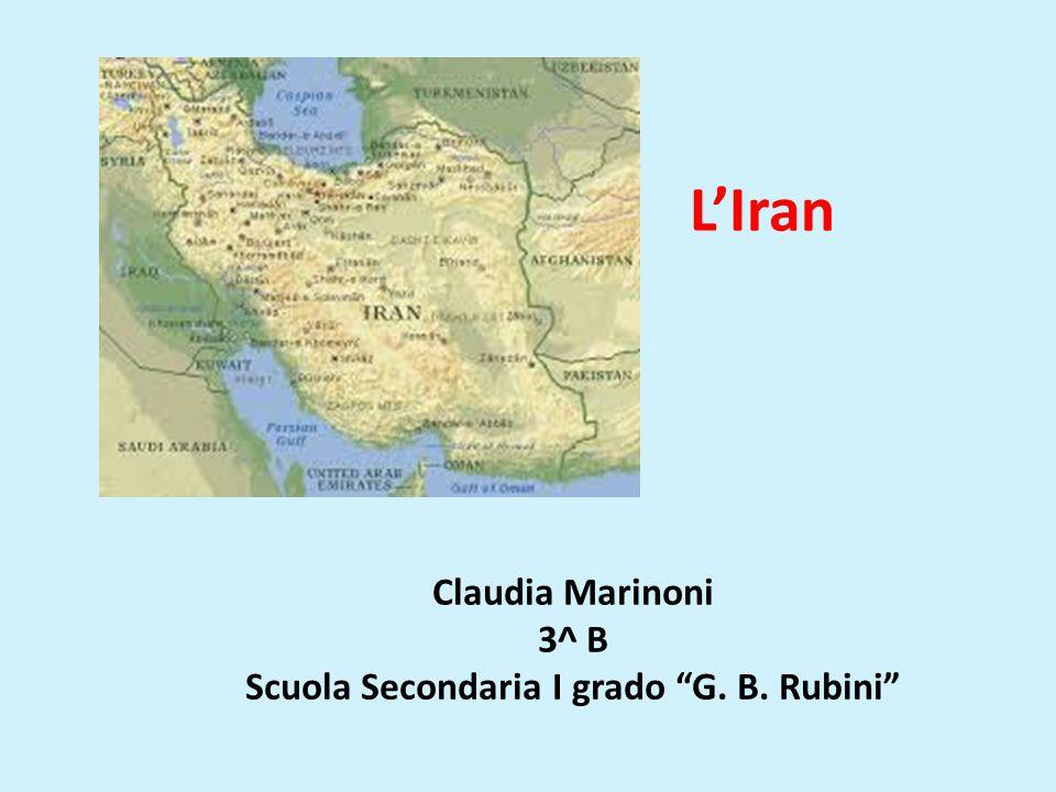Claudia Marinoni 3^ B Scuola Secondaria I grado G. B. Rubini