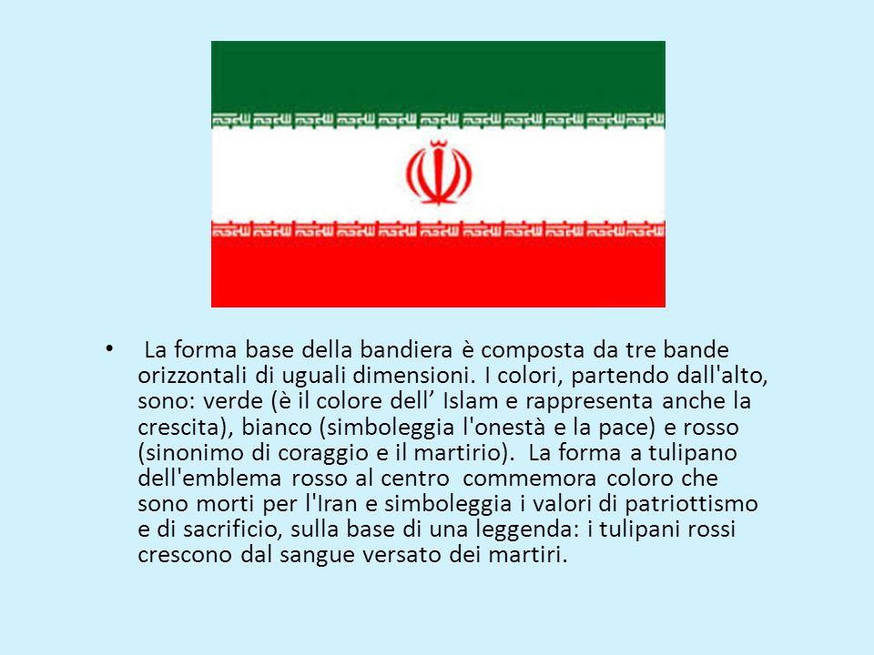 La forma base della bandiera è composta da tre bande orizzontali di uguali dimensioni.