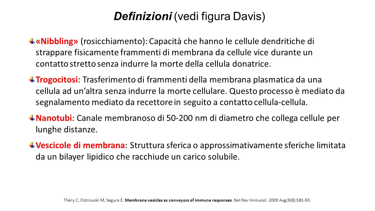 Definizioni (vedi figura Davis)