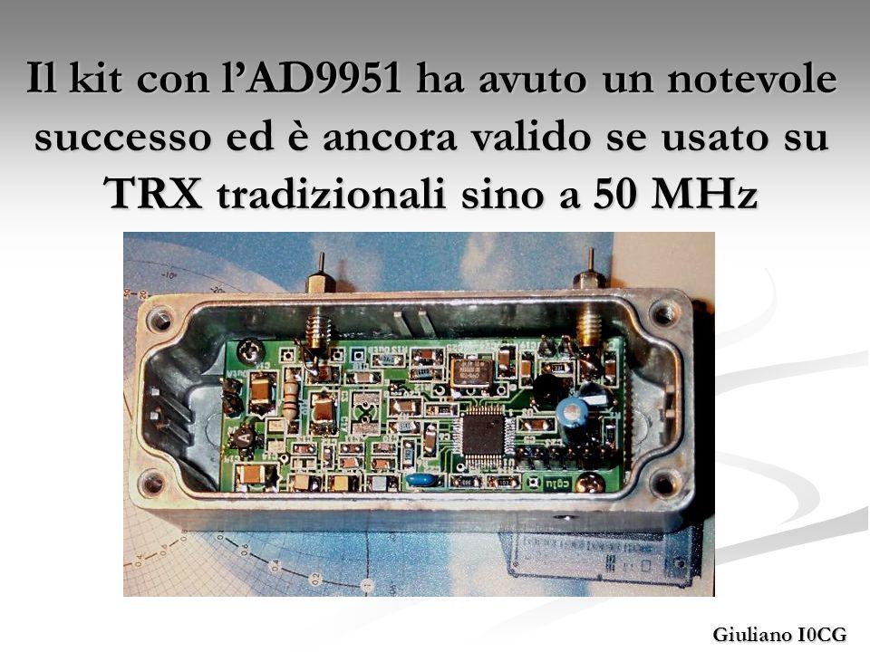 Il kit con l'AD9951 ha avuto un notevole successo ed è ancora valido se usato su TRX tradizionali sino a 50 MHz