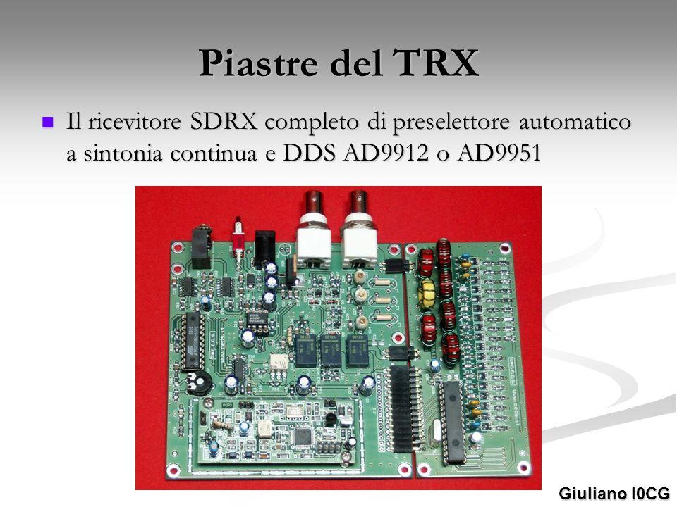 Piastre del TRX Il ricevitore SDRX completo di preselettore automatico a sintonia continua e DDS AD9912 o AD9951.