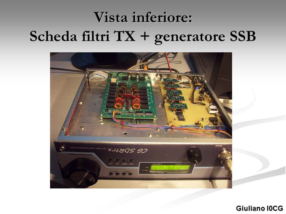 Vista inferiore: Scheda filtri TX + generatore SSB
