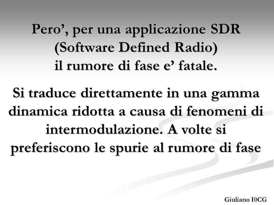Pero', per una applicazione SDR (Software Defined Radio) il rumore di fase e' fatale.