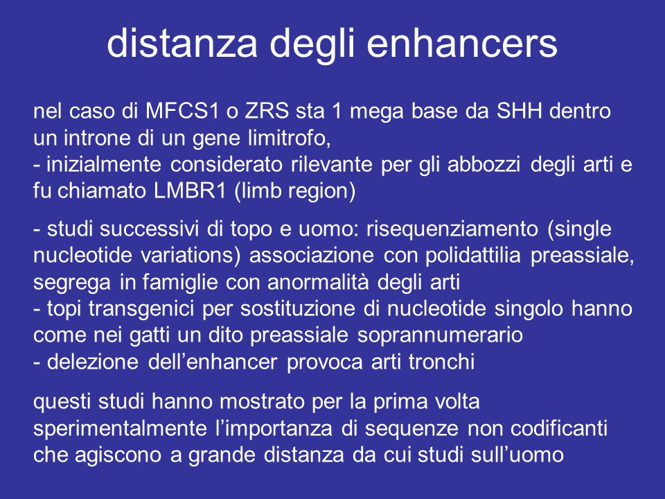 distanza degli enhancers