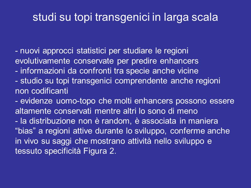 studi su topi transgenici in larga scala