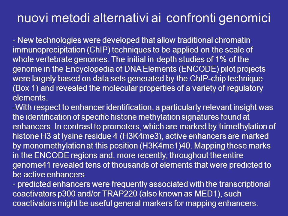 nuovi metodi alternativi ai confronti genomici