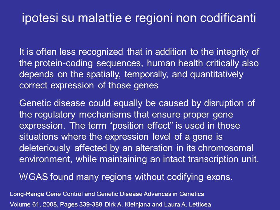ipotesi su malattie e regioni non codificanti