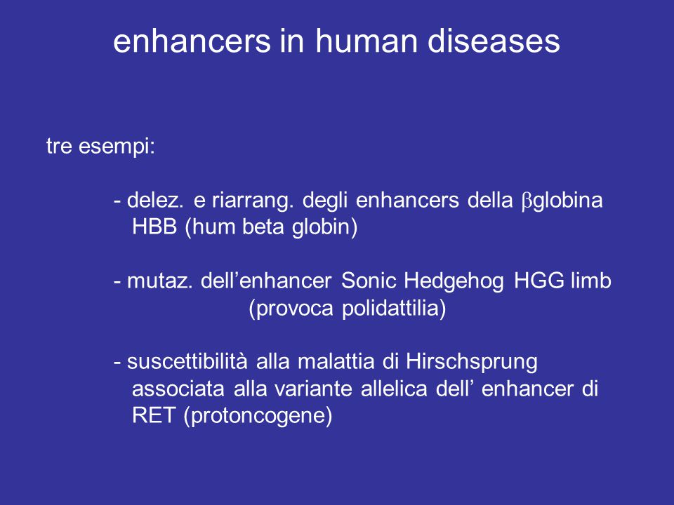 enhancers in human diseases