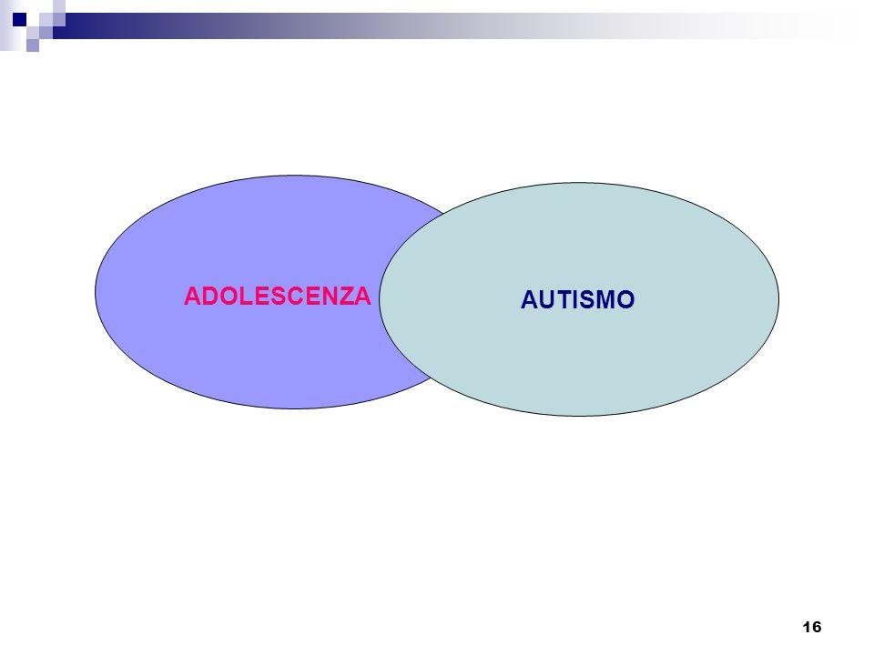 AUTISMO ADOLESCENZA
