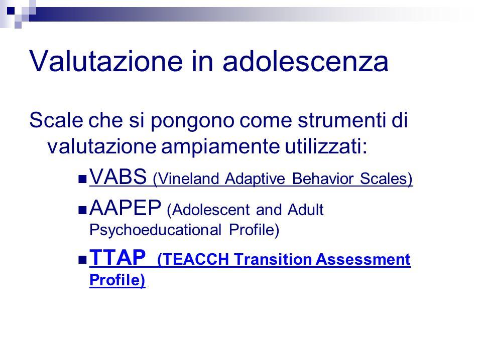 Valutazione in adolescenza