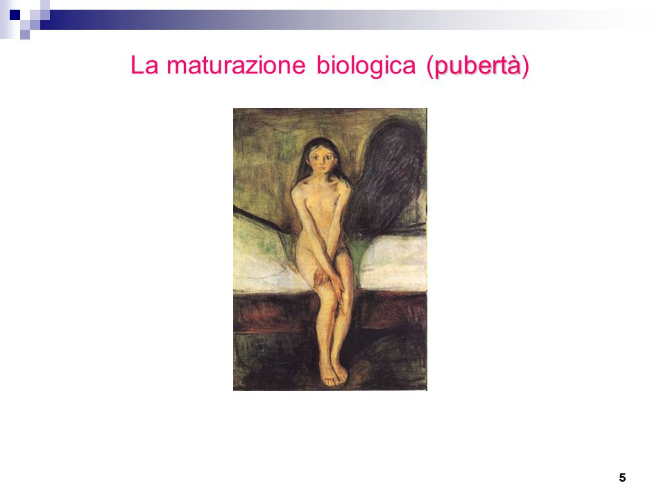 La maturazione biologica (pubertà)