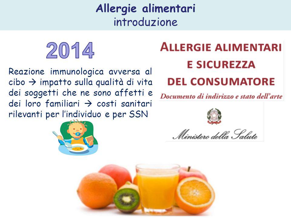 2014 Allergie alimentari introduzione