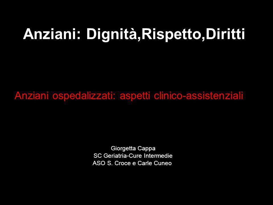 Anziani ospedalizzati: aspetti clinico-assistenziali
