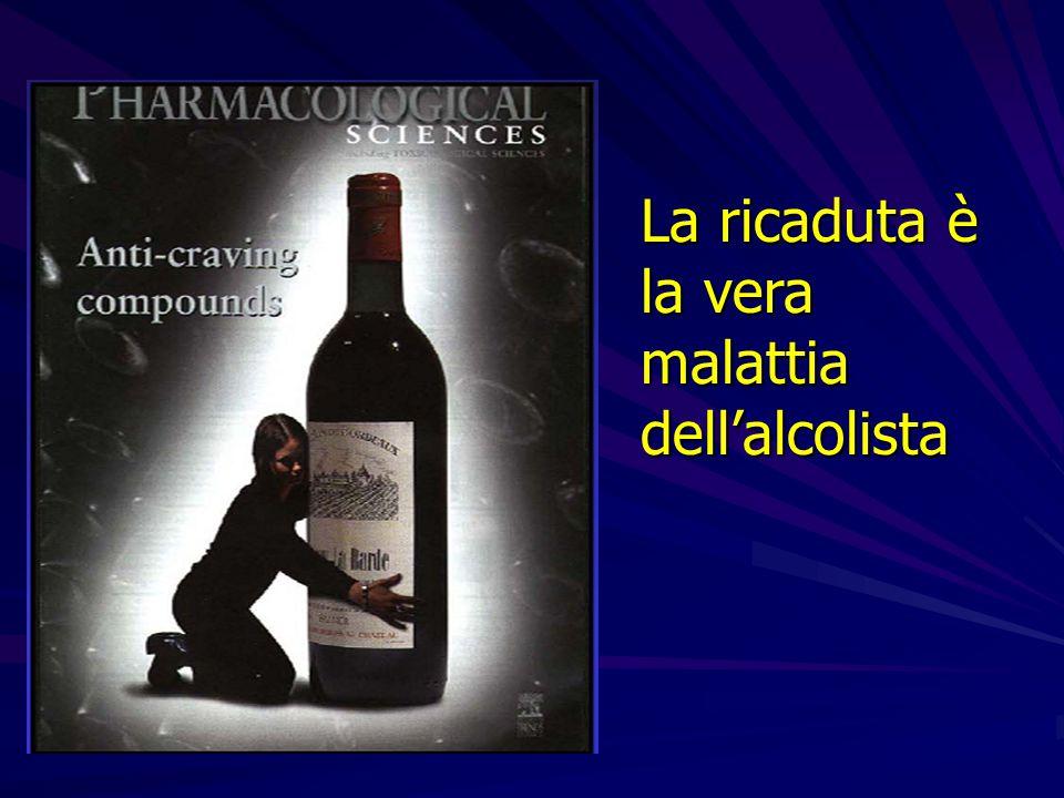La ricaduta è la vera malattia dell'alcolista
