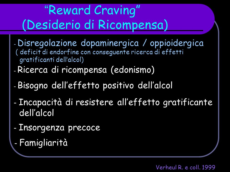 Reward Craving (Desiderio di Ricompensa)