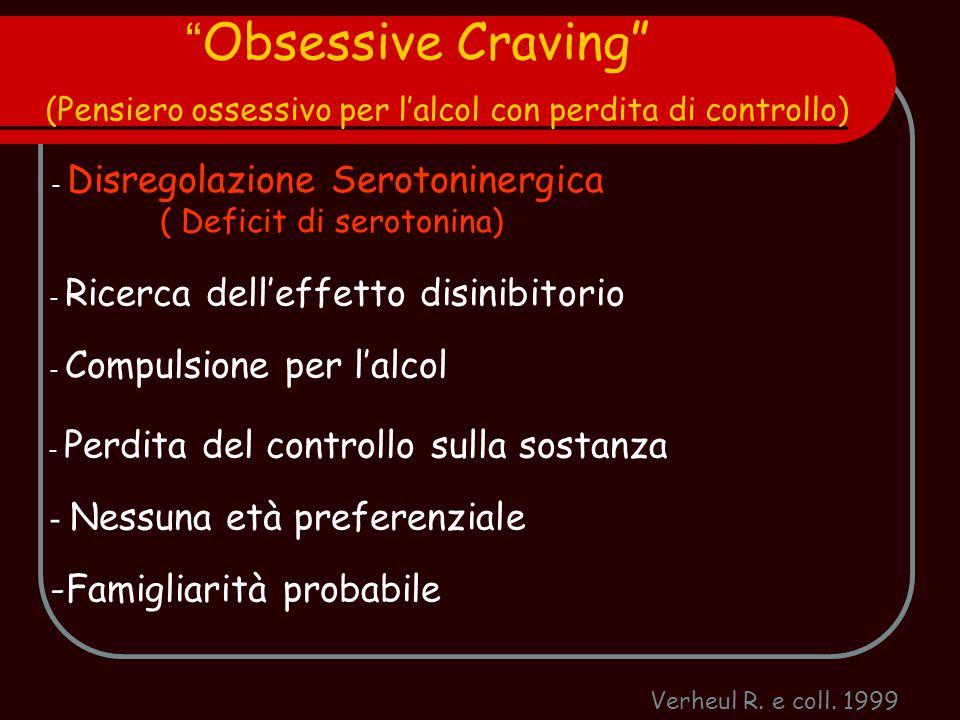 Obsessive Craving (Pensiero ossessivo per l'alcol con perdita di controllo)