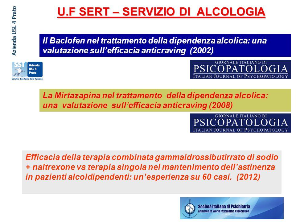 U.F SERT – SERVIZIO DI ALCOLOGIA