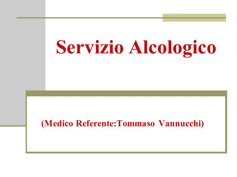 (Medico Referente:Tommaso Vannucchi)