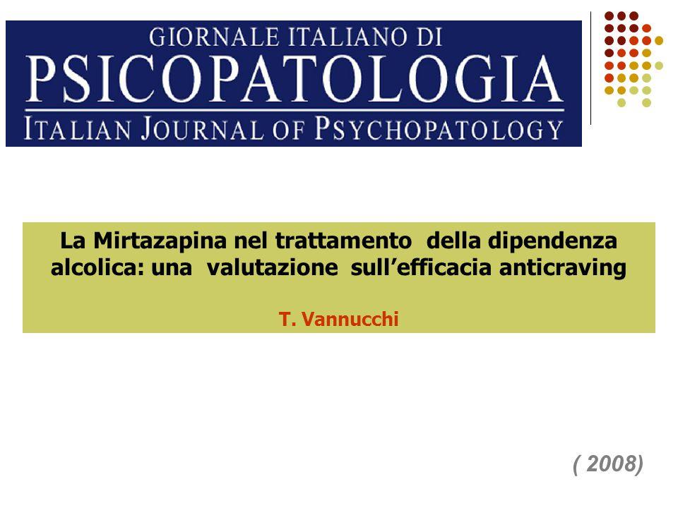 La Mirtazapina nel trattamento della dipendenza