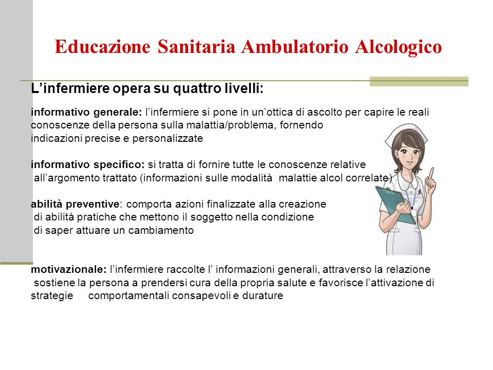 Educazione Sanitaria Ambulatorio Alcologico