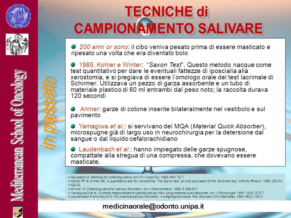 CAMPIONAMENTO SALIVARE