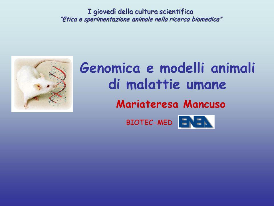 Genomica e modelli animali
