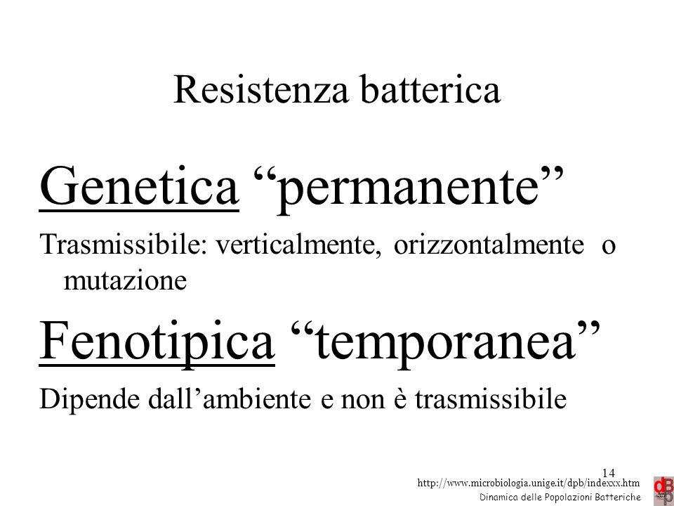 Genetica permanente Fenotipica temporanea