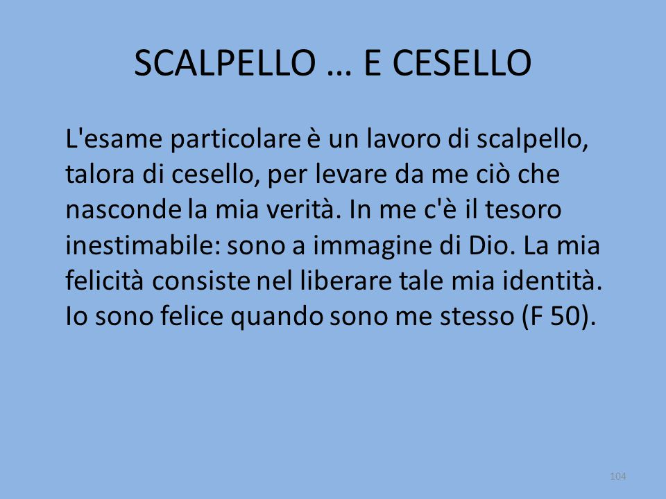 SCALPELLO … E CESELLO