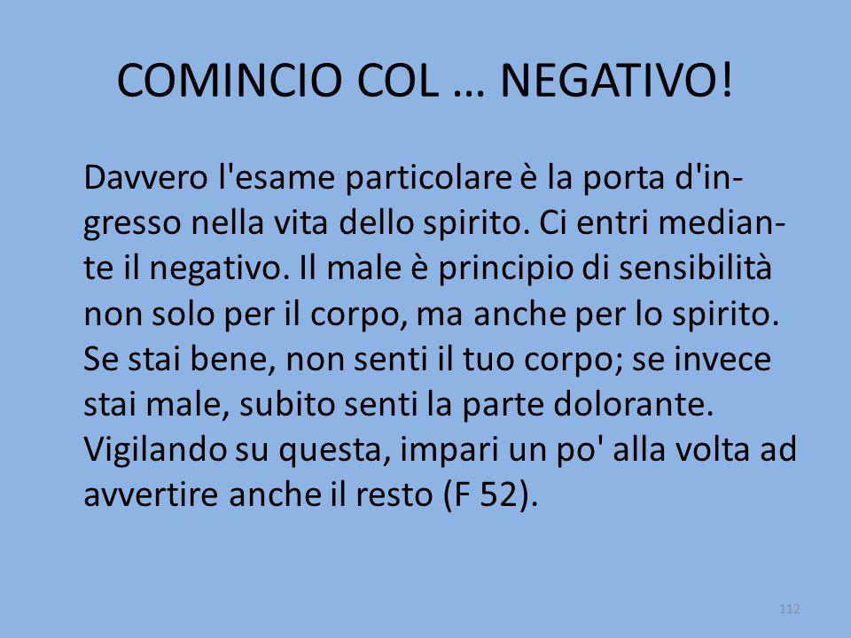 COMINCIO COL … NEGATIVO!