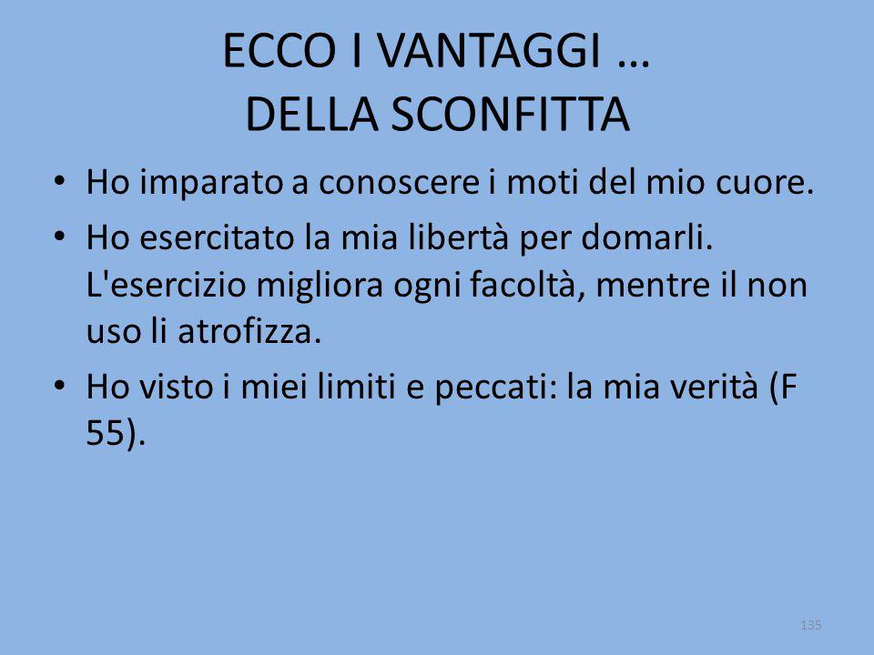 ECCO I VANTAGGI … DELLA SCONFITTA