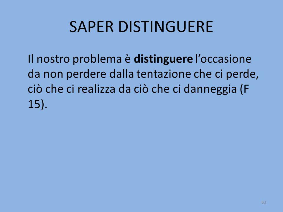SAPER DISTINGUERE