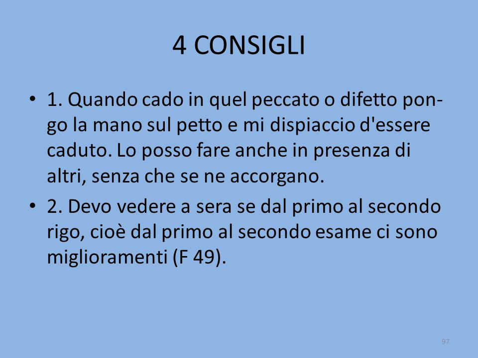 4 CONSIGLI