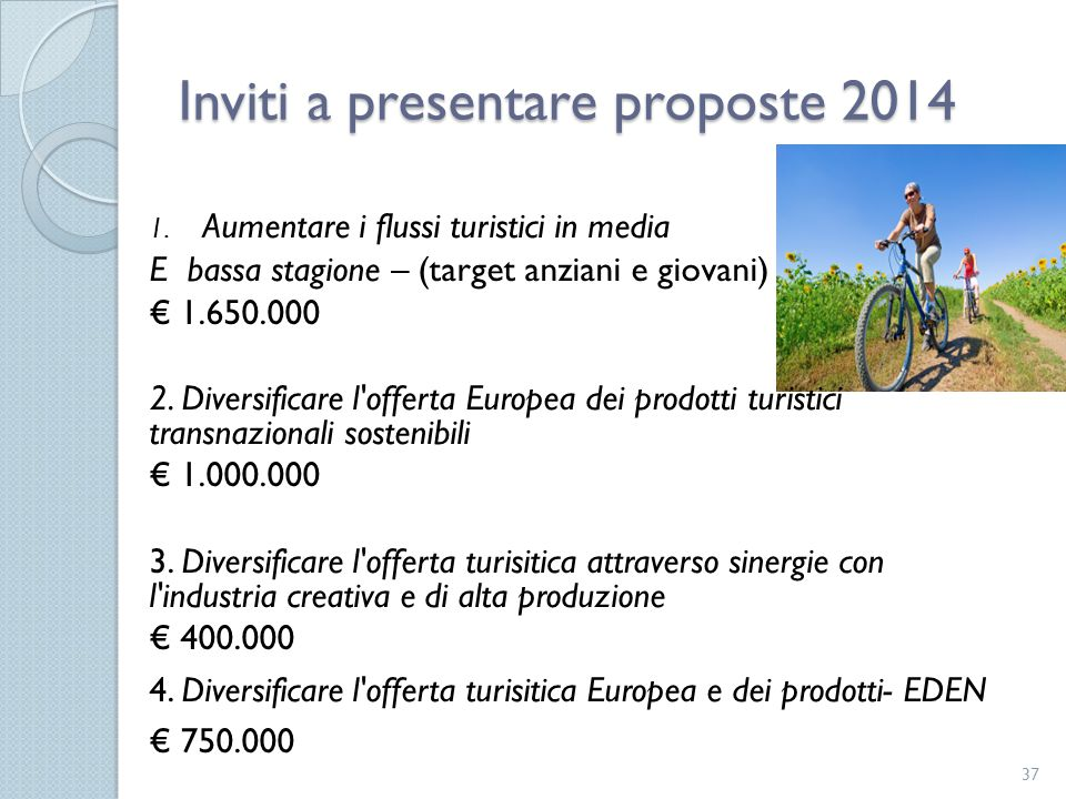 Inviti a presentare proposte 2014