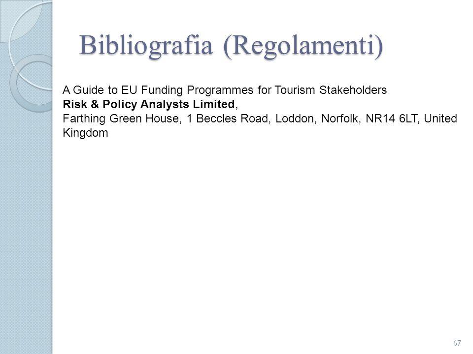 Bibliografia (Regolamenti)