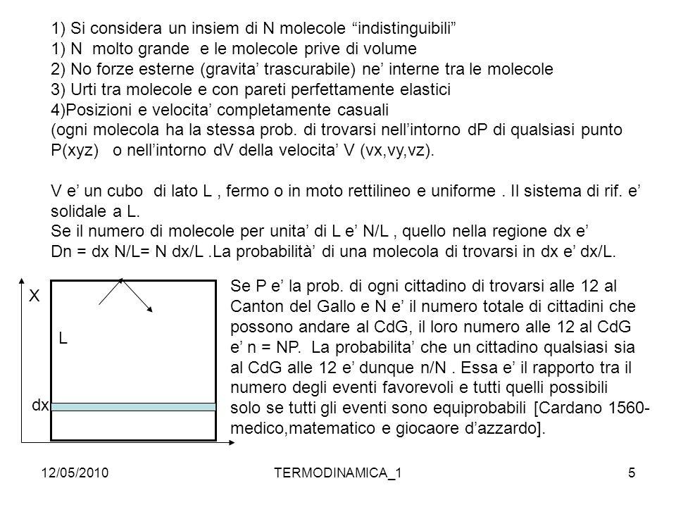 1) Si considera un insiem di N molecole indistinguibili