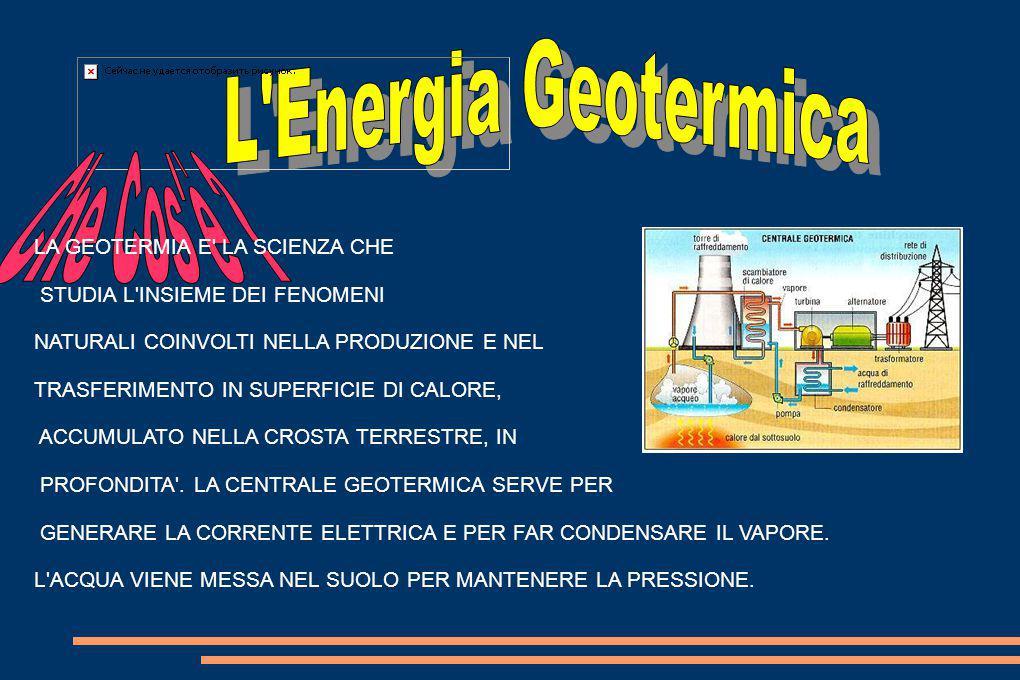 L Energia Geotermica Che Cos è LA GEOTERMIA E LA SCIENZA CHE
