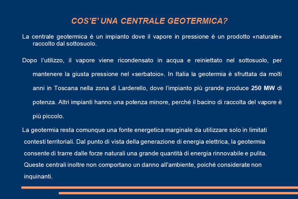 COS E UNA CENTRALE GEOTERMICA