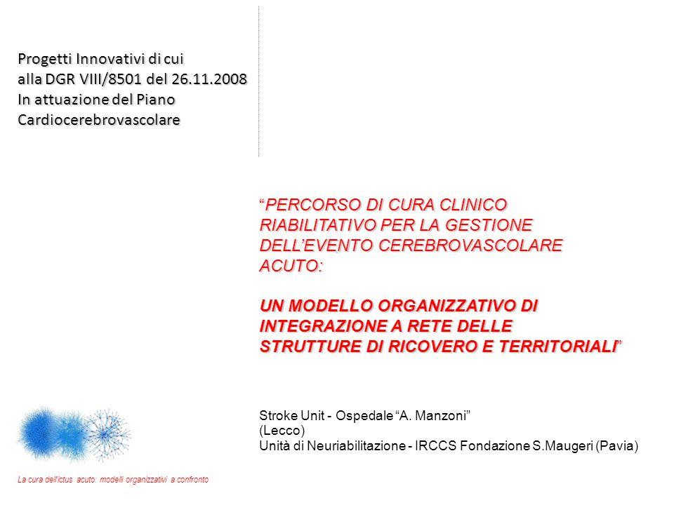 Progetti Innovativi di cui alla DGR VIII/8501 del 26.11.2008